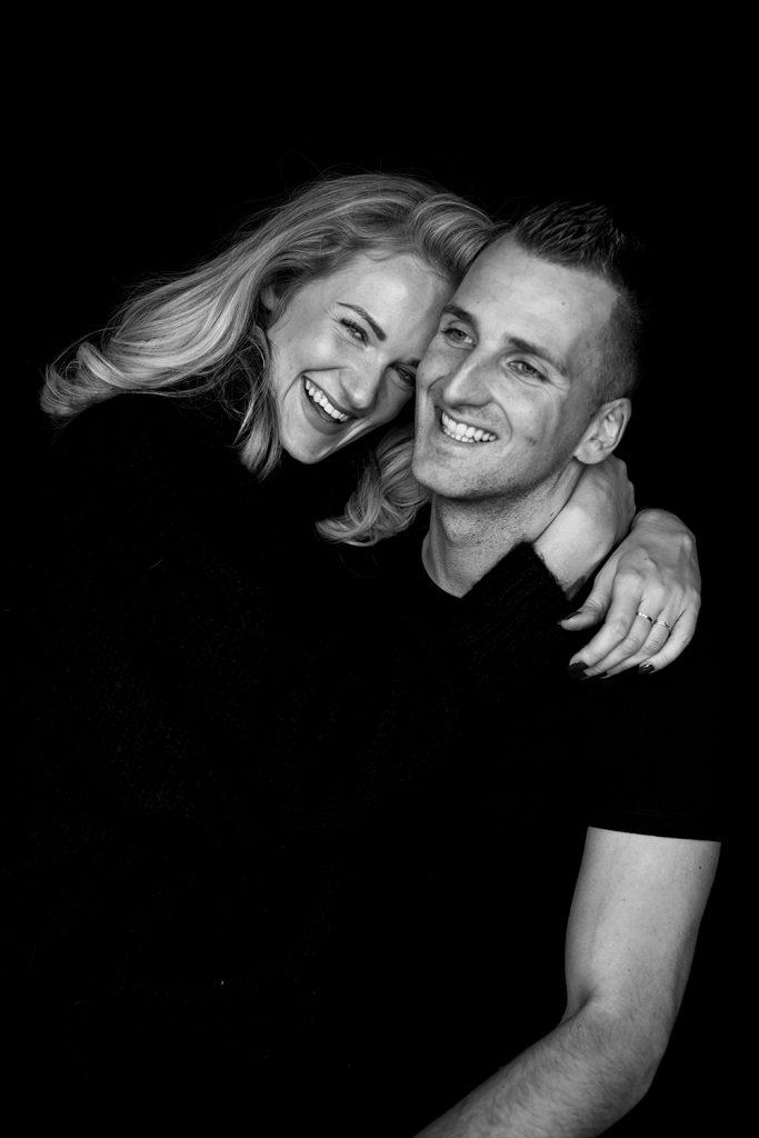 zwart wit liefde foto
